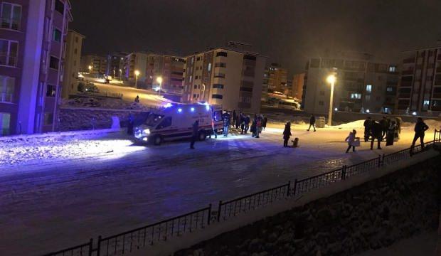 Karabük'te kar eğlencesi hastanede bitti