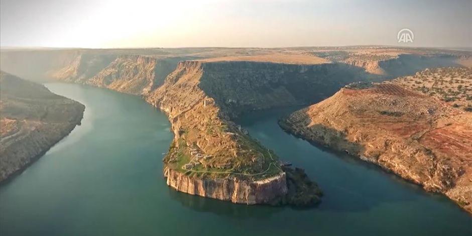 Zeugma ve Fırat Nehri'nin tanıtımı için özel görüntü çekildi