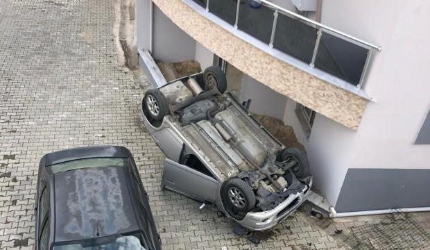 Anne ve küçük kızı 10 metreden beton zemine çakıldı