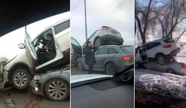 İki farklı şehir aynı kare! Rusya'da korkutan görüntüler