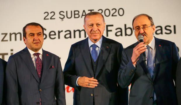 Cumhurbaşkanı Erdoğan İzmir'de seramik fabrikasının açılışını yaptı