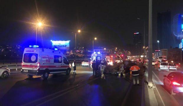 Esenyurt'ta takla atan otomobilin sürücüsü yaralandı
