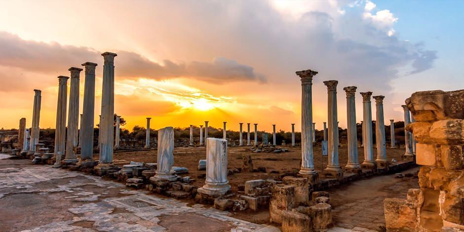 Tarihi şehir Magusa'da binlerce yıllık geçmişe sahip Salamis Antik Kenti