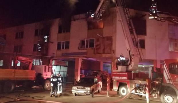 Tuzla'da sanayi sitesinde yangın!