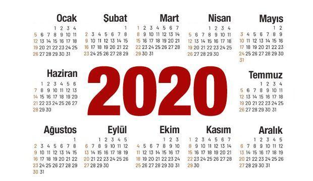 2020 Hangi Gunler Resmi Tatil Ramazan Ve Kurban Bayrami Baslama