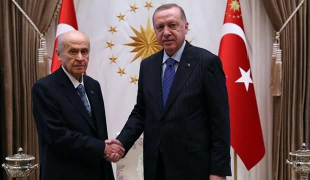 Başkan Erdoğan Bahçeli ile görüştü