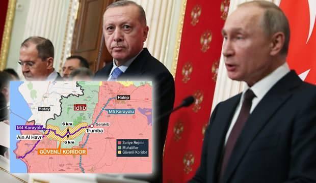 Moskova'daki İdlib Zirvesi bitti, haritalar ortaya çıktı! Erdoğan ve Putin resmen anlaştı