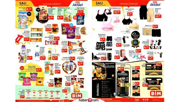 17 Mart BİM aktüel kataloğu |  Gıda ve tekstil ürünlerinde kampanya!