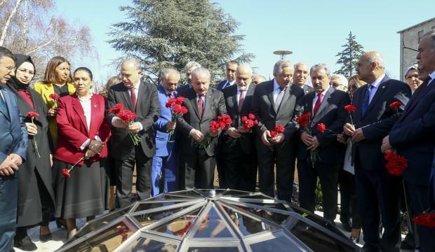 Mustafa Şentop, Meclis'teki 15 Temmuz Şehitleri Anıtı'nın açılışını gerçekleştirdi