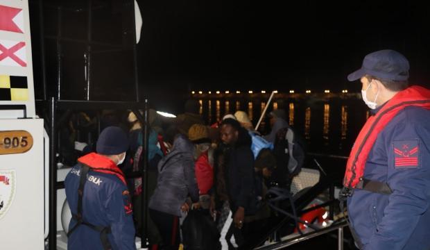 Sahil Güvenlik, Ayvacık'ta denize açılan 45 göçmeni durdurdu