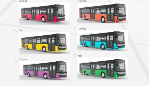 Yeni alınacak otobüslerin rengi anket ile belirlenecek