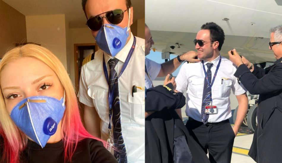 Ece Seçkin ve pilot nişanlısı Çağrı Terlemez ile karantinada!