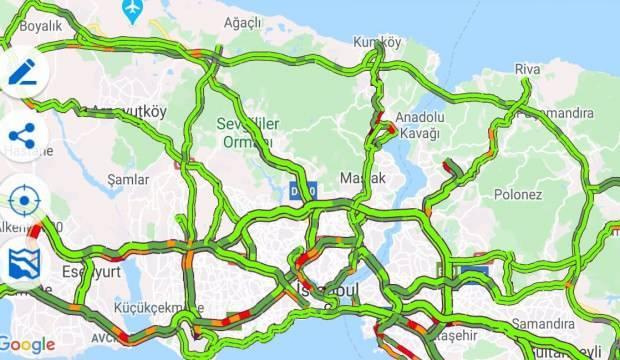 İstanbul'da trafiğe Koronavirüs etkisi