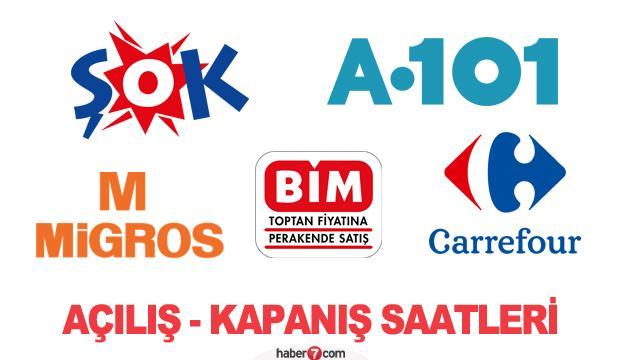 ŞOK, A101, BİM, Migros, Carrefour saat kaçta açılıp kaçta kapanıyor?