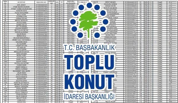 TOKİ Başakşehir kura sonuç sorgulama ekranı! Kazanan adayların isim listesi açıklandı!