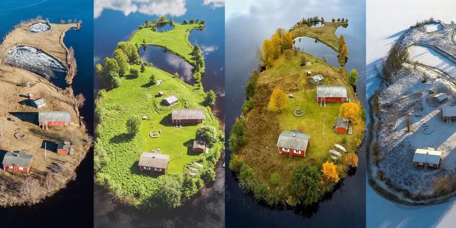 6 ay gündüz yaşanan ve güneşi batmayan Lapland Kotisaari Adası