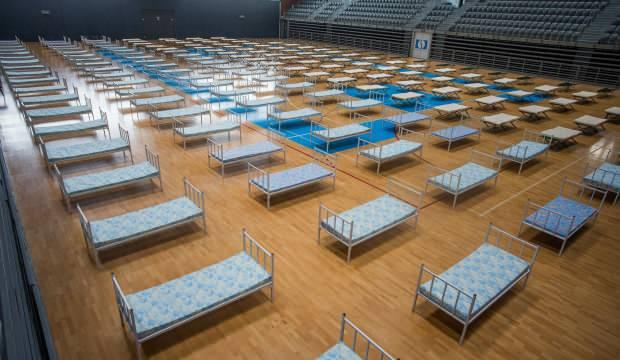 Hırvatistan'da basketbol sahası hastaneye çevrildi