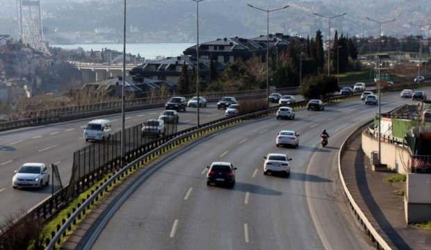 İstanbul'da trafik yoğunluğu yüzde 17