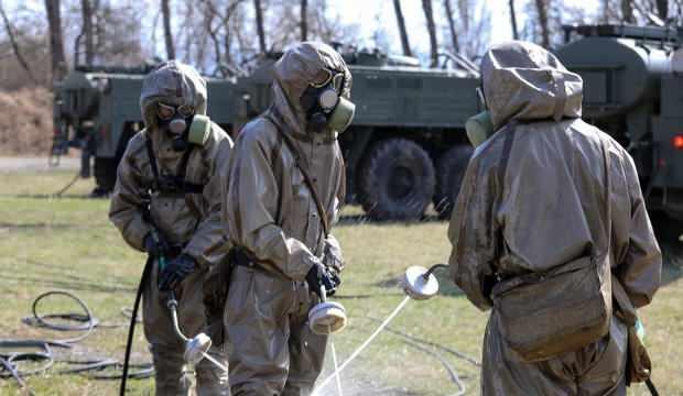 Rus ordusundan koronavirüse karşı tatbikat