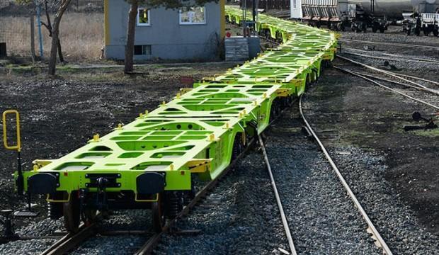 Sivas'ta üretilen yük vagonları Avusturya yolunda!
