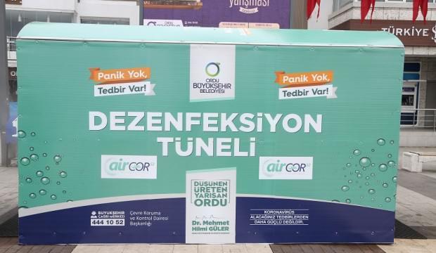 Türkiye'de bir ilk! koronavirüse karşı 'dezenfeksiyon tüneli'
