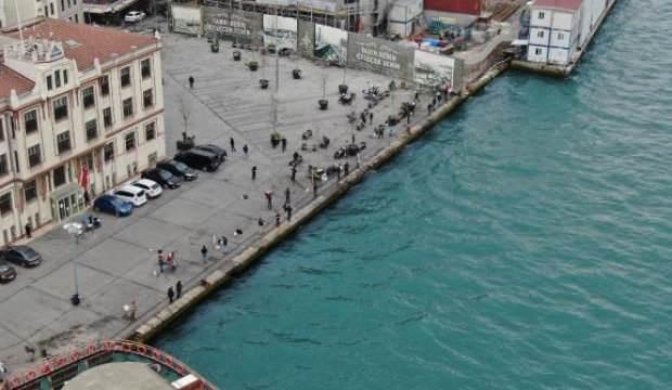 Üsküdar'da yasaklandı ama Karaköy'de yine aynı tablo var