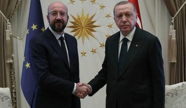 Erdoğan, Avrupa Konseyi Başkanı Michel ile görüştü