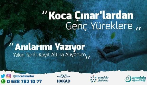 Türkiye'nin çınarları anılarını gençler için paylaşacak