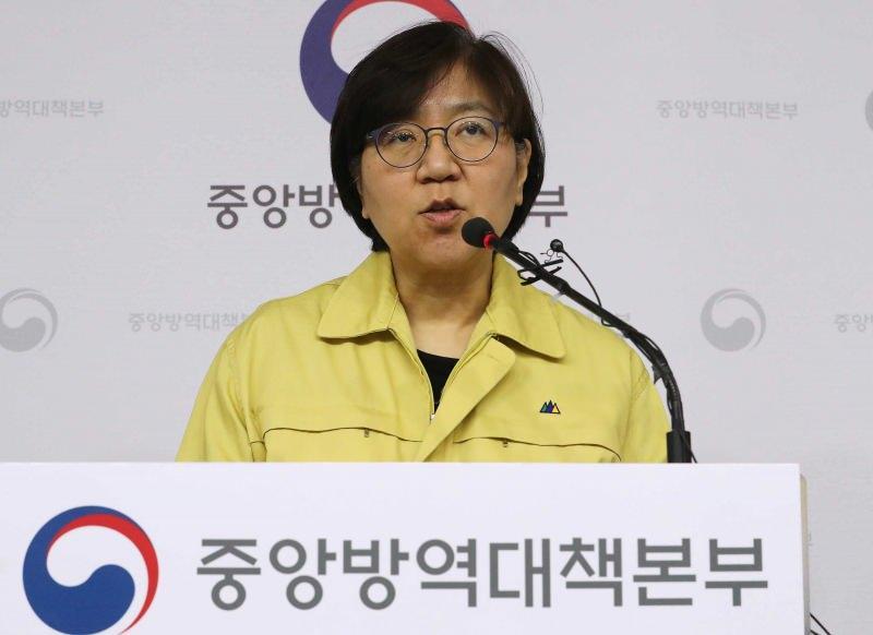 Kore Hastalık Kontrol ve Önleme Merkezleri (KCDC) Genel Sekreteri Jung Eun-kyeong...
