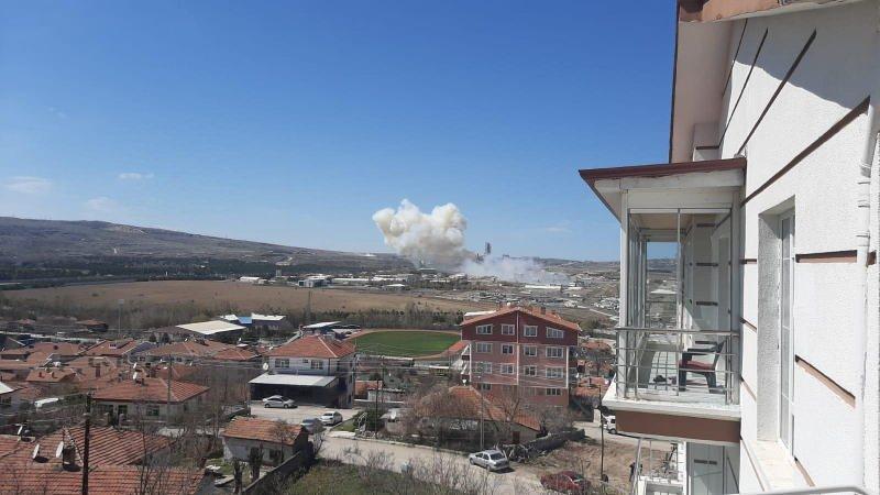 Roketsan'da yaşanan patlamadan ilk görüntüler...