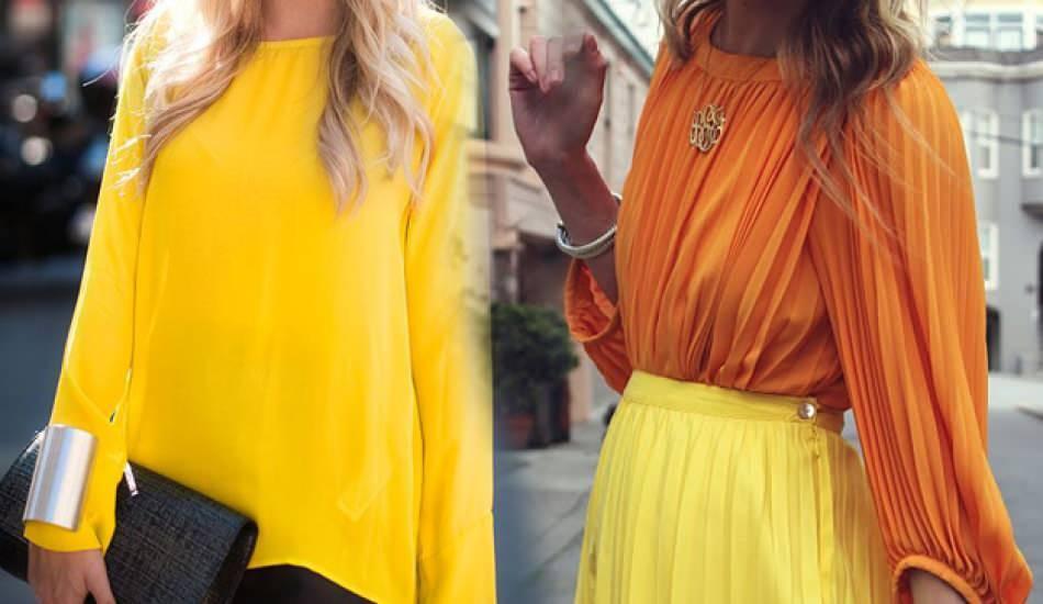 Sarı renk kombinlemenin tüyoları