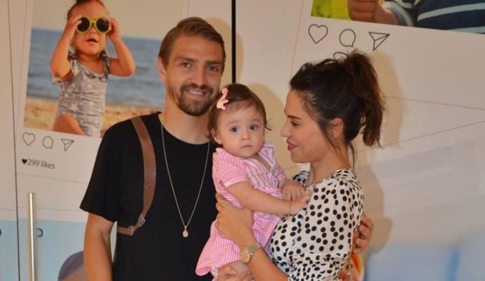 Caner Erkin 1 yaşındaki kızıyla spor yaptı!