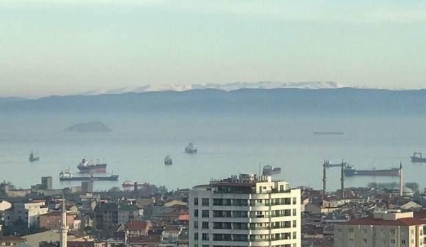 Hava kirliliği azaldı, İstanbul'dan Uludağ göründü!