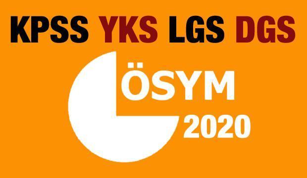 ÖSYM yeni sınav takvimi belli oldu! 2020 KPSS, YKS, LGS ve DGS sınavları ne zaman?