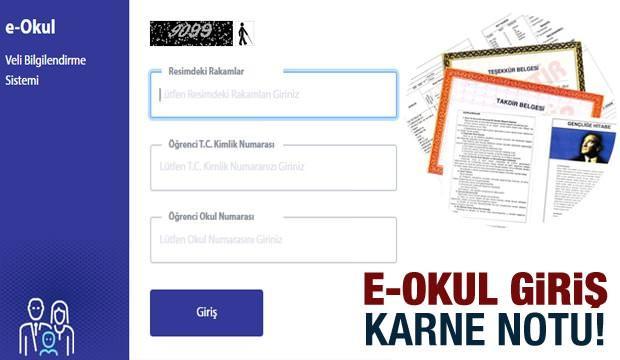 e-Okul giriş sayfası: MEB 2020 ikinci dönem karne notu ve sorumlu dersler