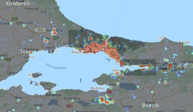 İstanbul Corona virüs vaka haritası: Covid-19 vaka yoğunluğu ilçe ilçe paylaşıldı!
