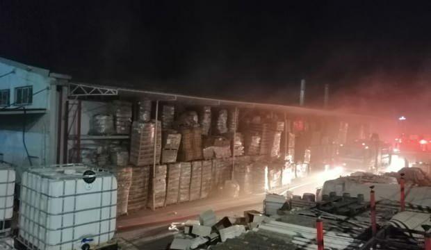 İstanbul'da dezenfektan üretimi yapan fabrikada korkutan yangın