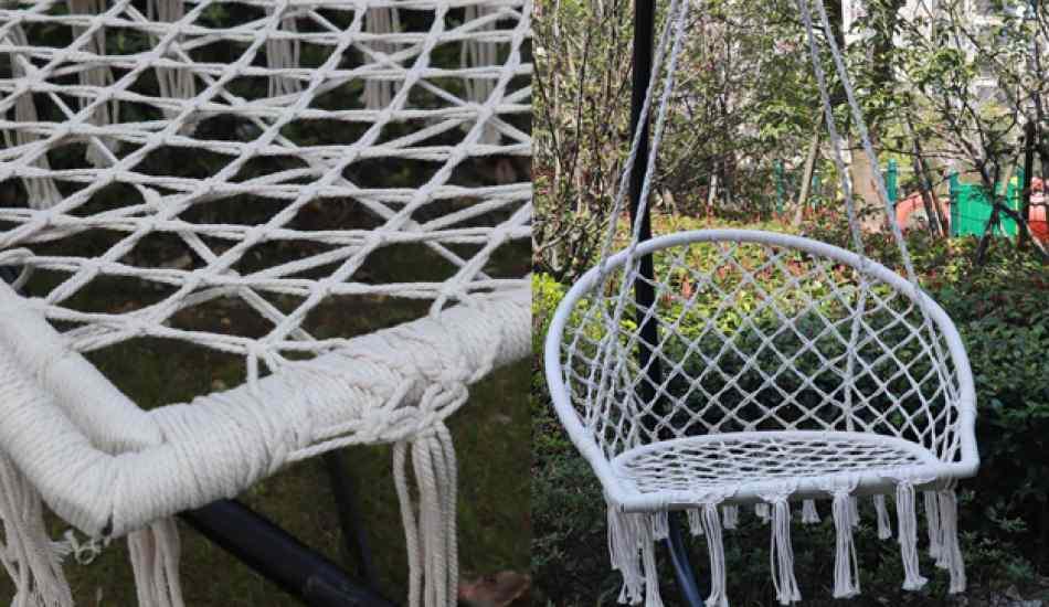 Makrome ipinden hamak sandalye yapımı