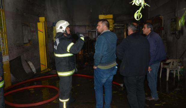Kahramanmaraş'ta iş yerinde yangın