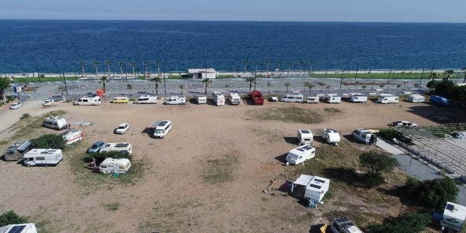 Antalya'da karavanlı tatilcilerin sayısı artıyor
