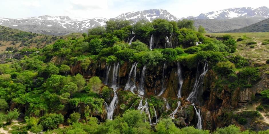 Erzincan'ın doğal güzelliği Girlevik ve Konarlı Şelaleleri