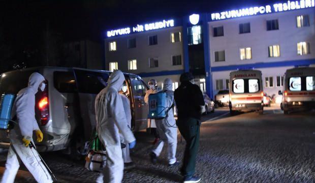 Erzurumspor'da 11 kişinin testi pozitif!