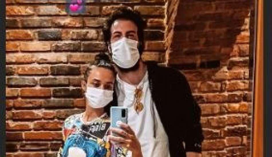 Hande Soral ve eşi İsmail Demirci'den maskeli paylaşım!