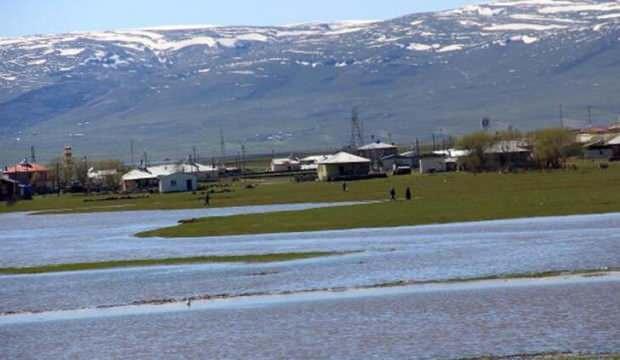 Kura Nehri taştı, Ardahan Ovası göle döndü