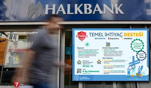 Temel destek İhtiyaç Kresi nasıl başvuru yapılır? HalkBank kredi başvuru sonucu sorgulama!