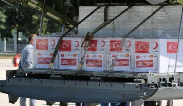 Türkiye'den gönderilen tıbbi yardım Kuzey Makedonya'ya ulaştı