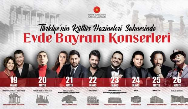 """Türkiye'nin kültür hazineleri sahnesinde """"Evde Bayram Konserleri"""" devam edecek"""