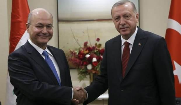 Erdoğan, Irak Cumhurbaşkanı Salih ile görüştü