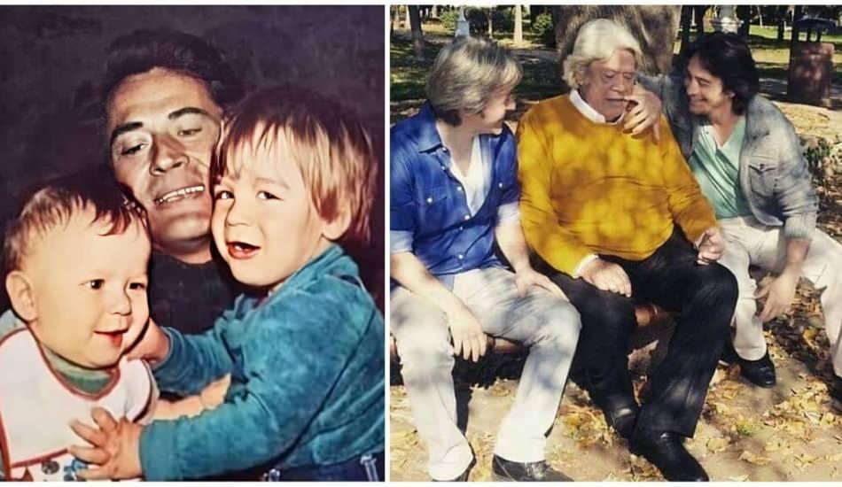 Cüneyt Arkın çocuklarıyla 40 yıl önce çekilmiş fotoğraflarını paylaştı