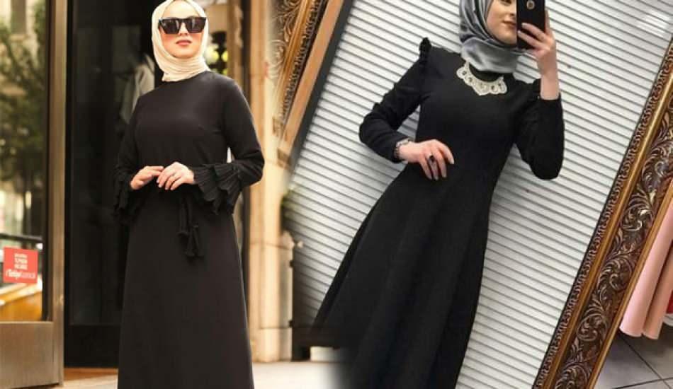Siyah renk elbiseler için uygun eşarp renkleri
